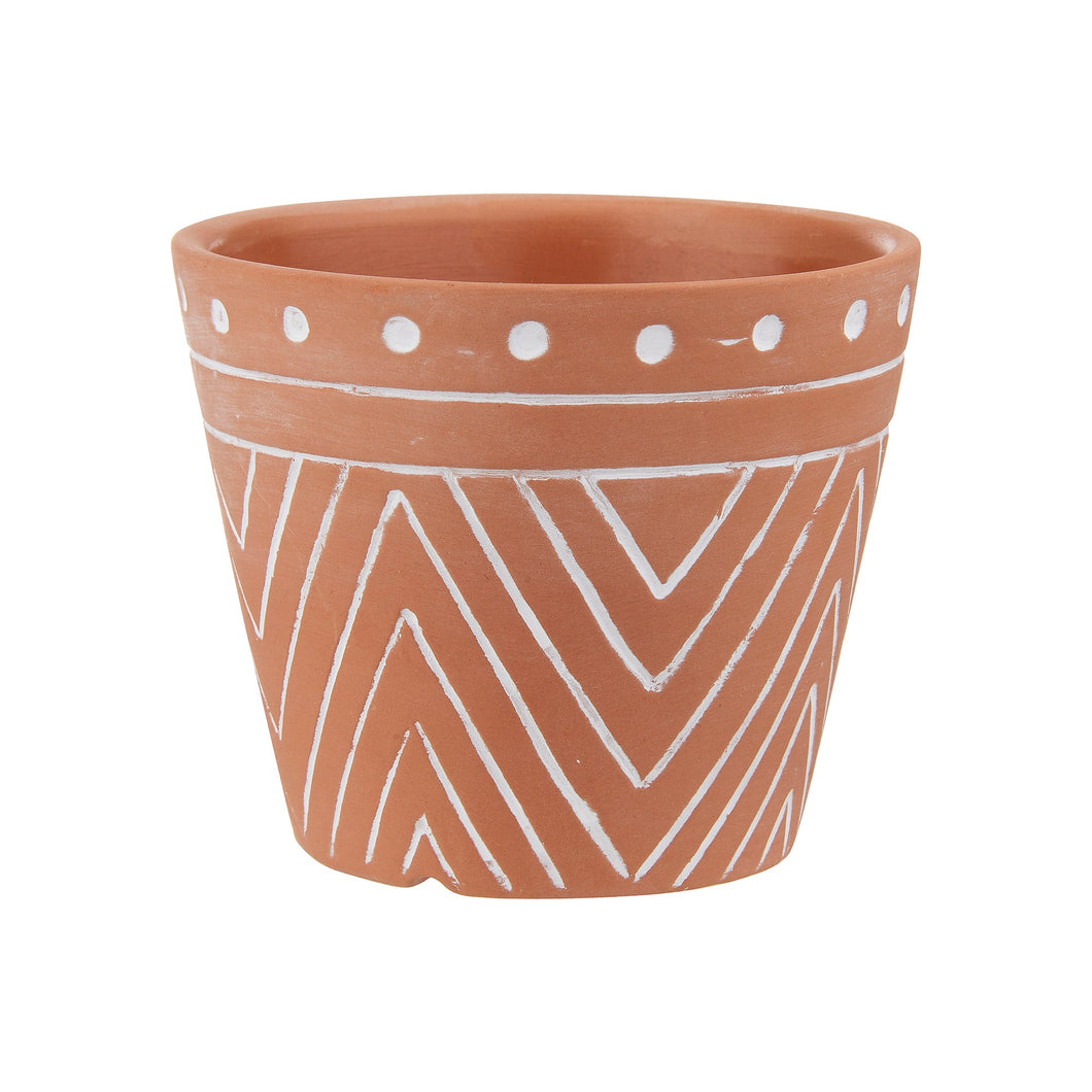 Geometric Terracotta Plant pot