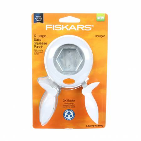Fiskars Hexagon Squeeze Punch - Extra Large 2 Inch