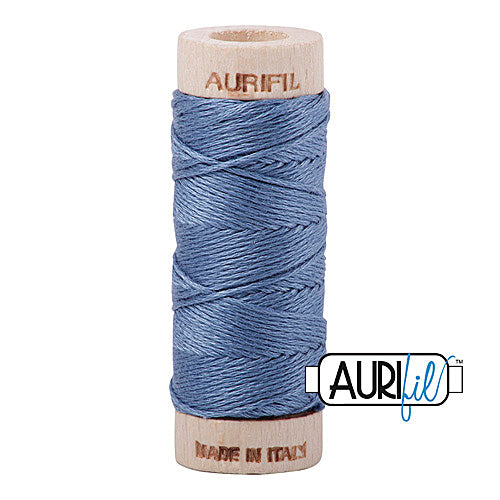 Aurifil Mako Cotton 6-Strand Floss 16 m (18 yd.) spool - Box of 5 spools - 1126 Blue Grey<br><font color = red>Please note, this item is not available in-store, but will be ordered for you.</font>