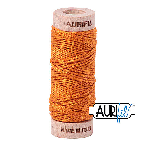 Aurifil Mako Cotton 6-Strand Floss 16 m (18 yd.) spool - Box of 5 spools - 1133 Bright Orange<br><font color = red>Please note, this item is not available in-store, but will be ordered for you.</font>