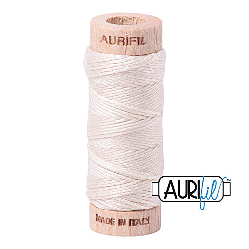 Aurifil Mako Cotton 6-Strand Floss 16 m (18 yd.) spool - Box of 5 spools - 2000 Light Sand<br><font color = red>Please note, this item is not available in-store, but will be ordered for you.</font>