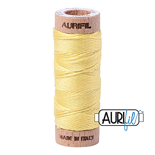 Aurifil Mako Cotton 6-Strand Floss 16 m (18 yd.) spool - Box of 5 spools - 2115 Lemon<br><font color = red>Please note, this item is not available in-store, but will be ordered for you.</font>