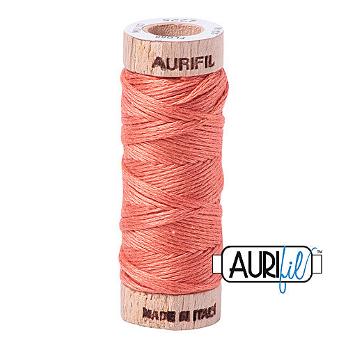 Aurifil Mako Cotton 6-Strand Floss 16 m (18 yd.) spool - Box of 5 spools - 2225 Salmon<br><font color = red>Please note, this item is not available in-store, but will be ordered for you.</font>