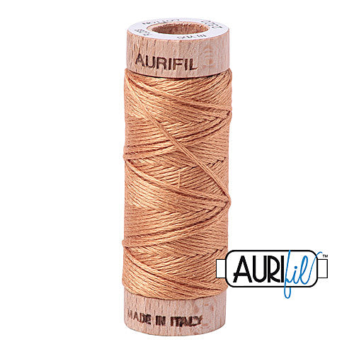 Aurifil Mako Cotton 6-Strand Floss 16 m (18 yd.) spool - Box of 5 spools - 2320 Light Toast<br><font color = red>Please note, this item is not available in-store, but will be ordered for you.</font>