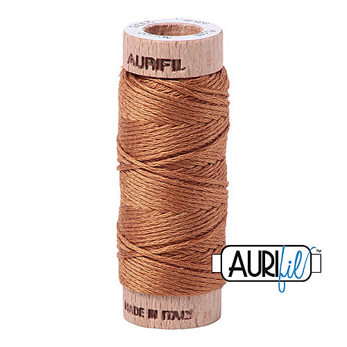 Aurifil Mako Cotton 6-Strand Floss 16 m (18 yd.) spool - Box of 5 spools - 2335 Light Cinnamon<br><font color = red>Please note, this item is not available in-store, but will be ordered for you.</font>