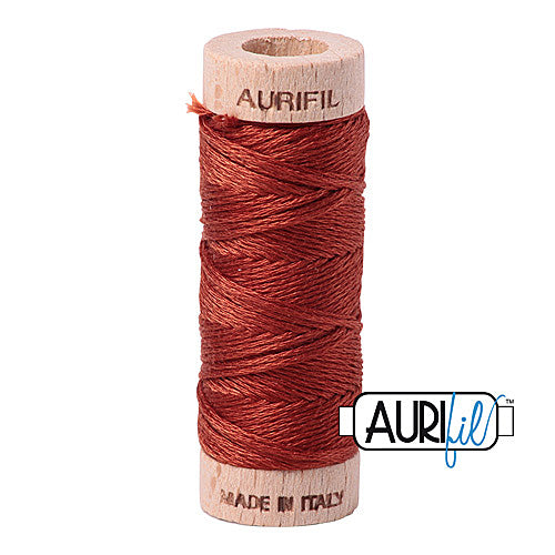 Aurifil Mako Cotton 6-Strand Floss 16 m (18 yd.) spool - Box of 5 spools - 2350 Copper<br><font color = red>Please note, this item is not available in-store, but will be ordered for you.</font>