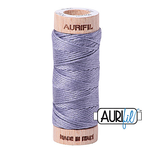 Aurifil Mako Cotton 6-Strand Floss 16 m (18 yd.) spool - Box of 5 spools - 2524 Grey Violet<br><font color = red>Please note, this item is not available in-store, but will be ordered for you.</font>
