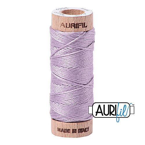 Aurifil Mako Cotton 6-Strand Floss 16 m (18 yd.) spool - Box of 5 spools - 2562 Lilac<br><font color = red>Please note, this item is not available in-store, but will be ordered for you.</font>