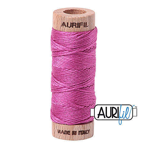 Aurifil Mako Cotton 6-Strand Floss 16 m (18 yd.) spool - Box of 5 spools - 2588 Light Magenta<br><font color = red>Please note, this item is not available in-store, but will be ordered for you.</font>