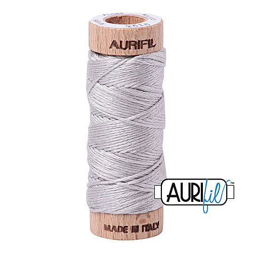 Aurifil Mako Cotton 6-Strand Floss 16 m (18 yd.) spool - Box of 5 spools - 2615 Aluminium<br><font color = red>Please note, this item is not available in-store, but will be ordered for you.</font>