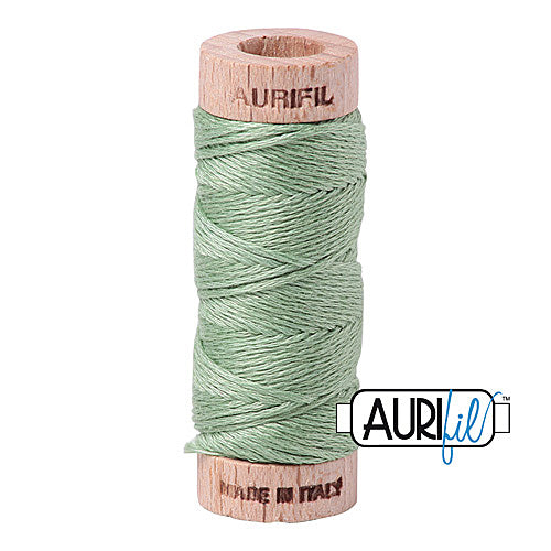 Aurifil Mako Cotton 6-Strand Floss 16 m (18 yd.) spool - Box of 5 spools - 2840 Loden Green<br><font color = red>Please note, this item is not available in-store, but will be ordered for you.</font>