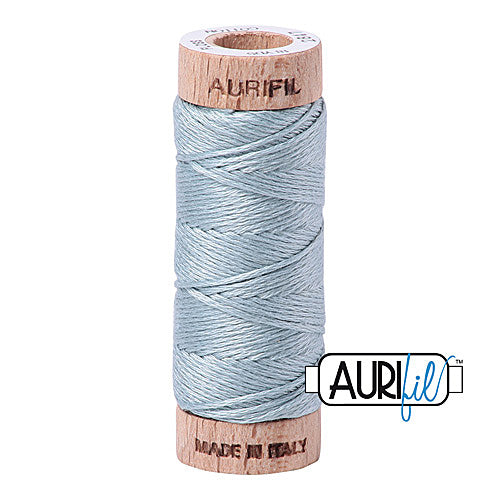 Aurifil Mako Cotton 6-Strand Floss 16 m (18 yd.) spool - Box of 5 spools - 2847 Bright Grey Blue<br><font color = red>Please note, this item is not available in-store, but will be ordered for you.</font>