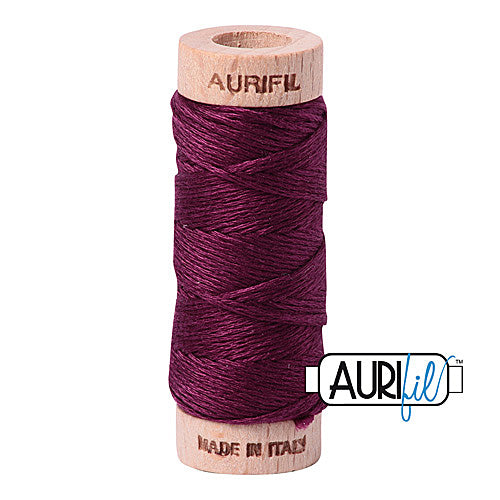 Aurifil Mako Cotton 6-Strand Floss 16 m (18 yd.) spool - Box of 5 spools - 4030 Plum<br><font color = red>Please note, this item is not available in-store, but will be ordered for you.</font>