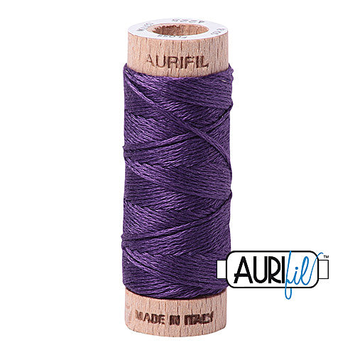 Aurifil Mako Cotton 6-Strand Floss 16 m (18 yd.) spool - Box of 5 spools - 4225 Eggplant<br><font color = red>Please note, this item is not available in-store, but will be ordered for you.</font>