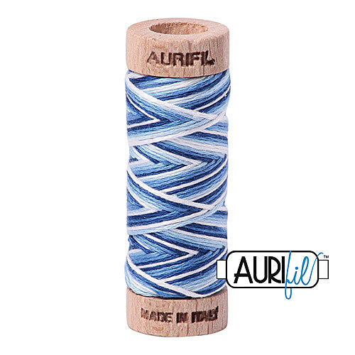 Aurifil Mako Cotton 6-Strand Floss 16 m (18 yd.) spool - Box of 5 spools - 4655 Storm at Sea<br><font color = red>Please note, this item is not available in-store, but will be ordered for you.</font>