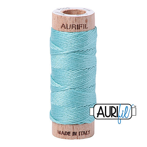 Aurifil Mako Cotton 6-Strand Floss 16 m (18 yd.) spool - Box of 5 spools - 5006 Light Turquoise<br><font color = red>Please note, this item is not available in-store, but will be ordered for you.</font>