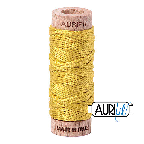 Aurifil Mako Cotton 6-Strand Floss 16 m (18 yd.) spool - Box of 5 spools - 5015 Gold Yellow<br><font color = red>Please note, this item is not available in-store, but will be ordered for you.</font>