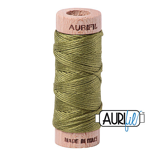 Aurifil Mako Cotton 6-Strand Floss 16 m (18 yd.) spool - Box of 5 spools - 5016 Olive Green<br><font color = red>Please note, this item is not available in-store, but will be ordered for you.</font>