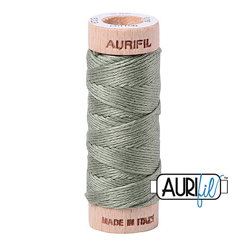 Aurifil Mako Cotton 6-Strand Floss 16 m (18 yd.) spool - Box of 5 spools - 5019 Military Green<br><font color = red>Please note, this item is not available in-store, but will be ordered for you.</font>