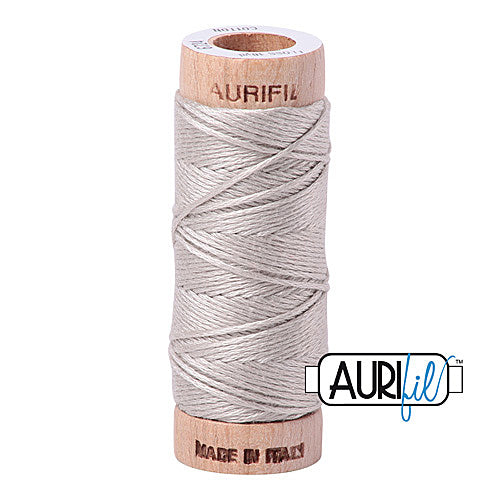 Aurifil Mako Cotton 6-Strand Floss 16 m (18 yd.) spool - Box of 5 spools - 6724 Moonshine<br><font color = red>Please note, this item is not available in-store, but will be ordered for you.</font>