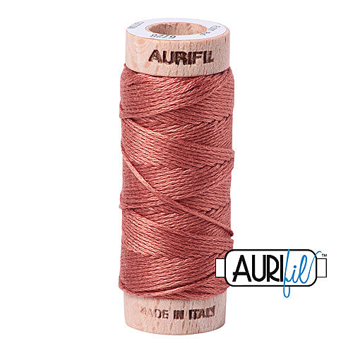 Aurifil Mako Cotton 6-Strand Floss 16 m (18 yd.) spool - Box of 5 spools - 6728 Cinnabar<br><font color = red>Please note, this item is not available in-store, but will be ordered for you.</font>