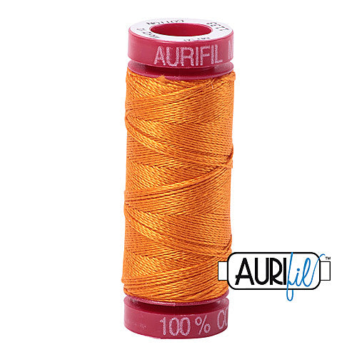 Aurifil Mako 12wt Cotton 50 m (54 yd.) spool - 1133 Bright Orange<br><font color = red>Please note, that this colour in this size is not available in-store, but will be ordered for you.</font>