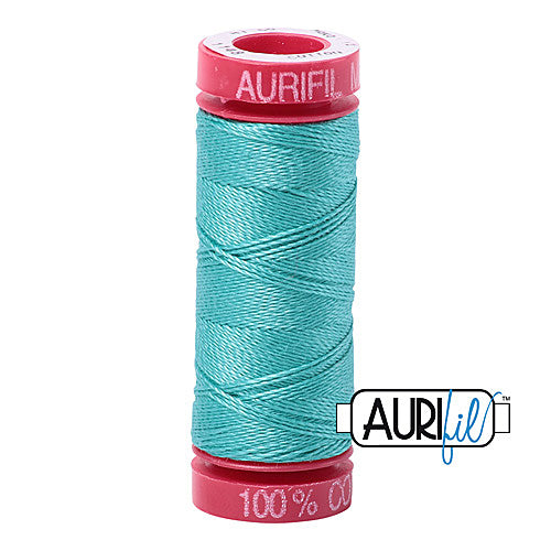 Aurifil Mako 12wt Cotton 50 m (54 yd.) spool - 1148 Light Jade<br><font color = red>Please note, that this colour in this size is not available in-store, but will be ordered for you.</font>