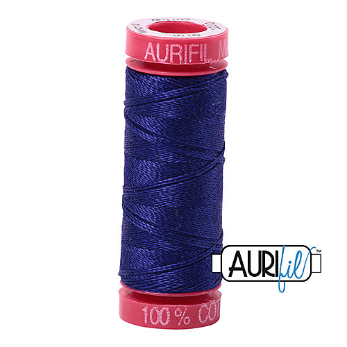 Aurifil Mako 12wt Cotton 50 m (54 yd.) spool - 1200 Blue Violet