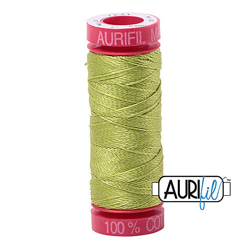 Aurifil Mako 12wt Cotton 50 m (54 yd.) spool - 1231 Spring Green<br><font color = red>Please note, that this colour in this size is not available in-store, but will be ordered for you.</font>