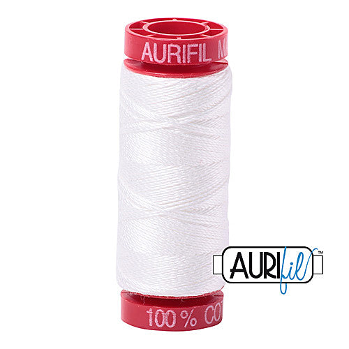Aurifil Mako 12wt Cotton 50 m (54 yd.) spool - 2021 Natural White
