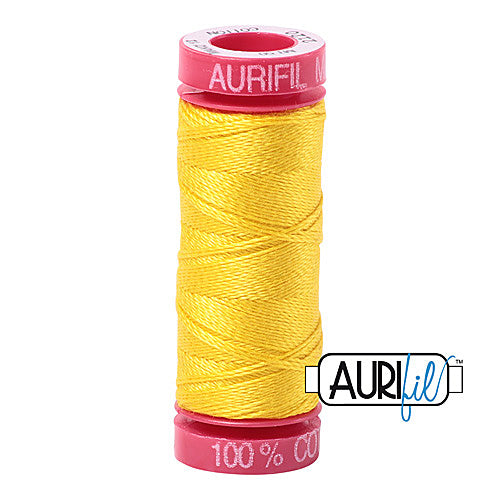 Aurifil Mako 12wt Cotton 50 m (54 yd.) spool - 2120 Canary<br><font color = red>Please note, that this colour in this size is not available in-store, but will be ordered for you.</font>