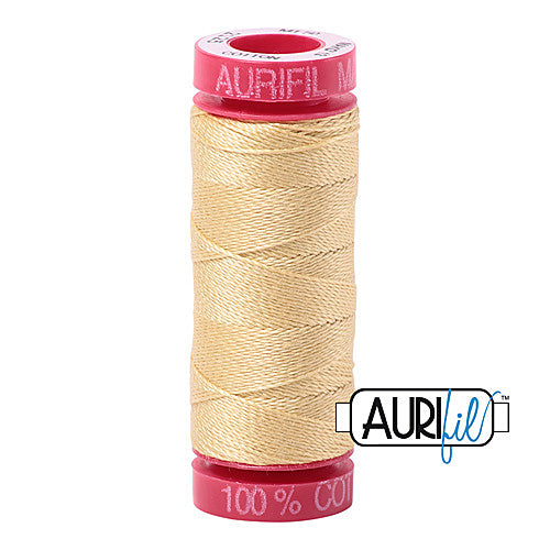 Aurifil Mako 12wt Cotton 50 m (54 yd.) spool - 2125 Wheat<br><font color = red>Please note, that this colour in this size is not available in-store, but will be ordered for you.</font>