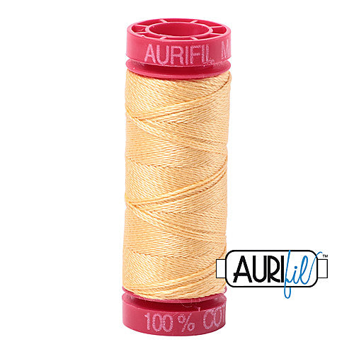 Aurifil Mako 12wt Cotton 50 m (54 yd.) spool - 2130 Medium Butter<br><font color = red>Please note, that this colour in this size is not available in-store, but will be ordered for you.</font>