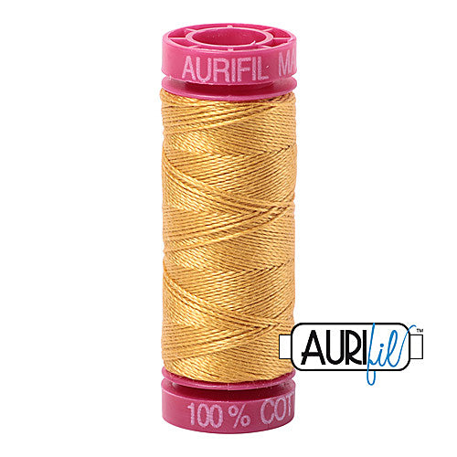 Aurifil Mako 12wt Cotton 50 m (54 yd.) spool - 2132 Tarnished Gold<br><font color = red>Please note, that this colour in this size is not available in-store, but will be ordered for you.</font>