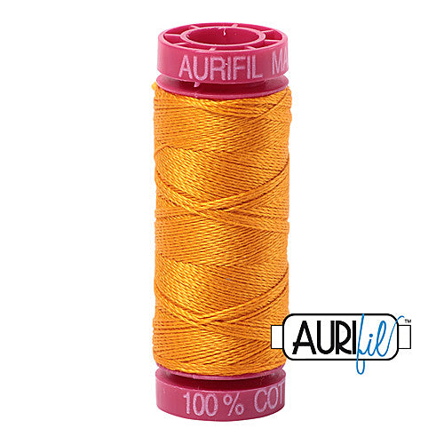 Aurifil Mako 12wt Cotton 50 m (54 yd.) spool - 2145 Yellow Orange<br><font color = red>Please note, that this colour in this size is not available in-store, but will be ordered for you.</font>