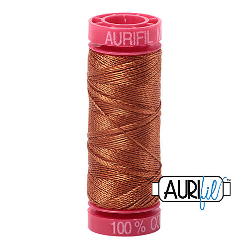 Aurifil Mako 12wt Cotton 50 m (54 yd.) spool - 2155 Cinnamon<br><font color = red>Please note, that this colour in this size is not available in-store, but will be ordered for you.</font>
