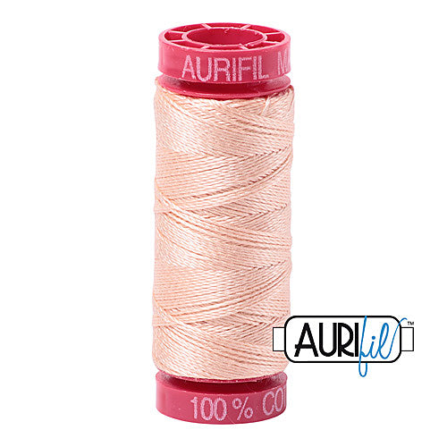Aurifil Mako 12wt Cotton 50 m (54 yd.) spool - 2205 Flesh<br><font color = red>Please note, that this colour in this size is not available in-store, but will be ordered for you.</font>