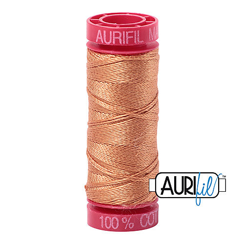 Aurifil Mako 12wt Cotton 50 m (54 yd.) spool - 2210 Caramel<br><font color = red>Please note, that this colour in this size is not available in-store, but will be ordered for you.</font>