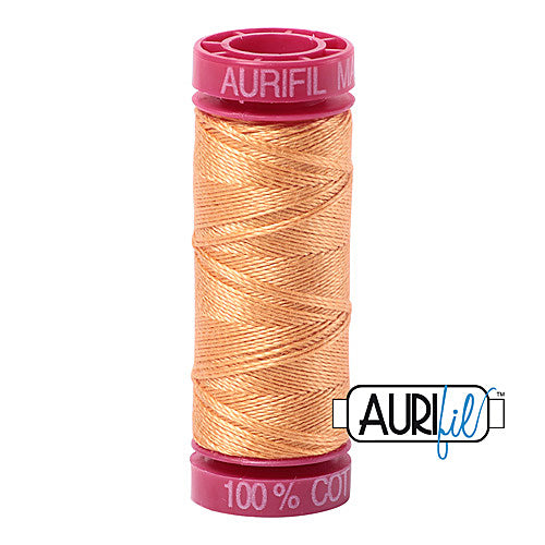 Aurifil Mako 12wt Cotton 50 m (54 yd.) spool - 2214 Golden Honey<br><font color = red>Please note, that this colour in this size is not available in-store, but will be ordered for you.</font>
