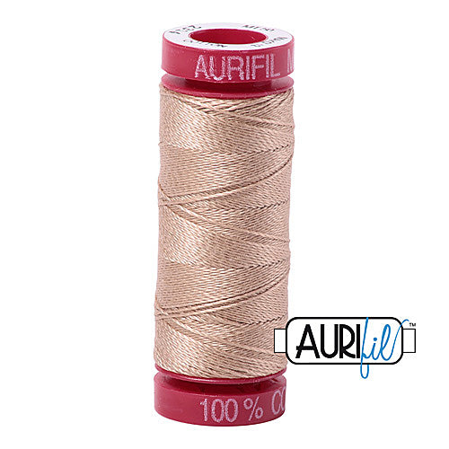 Aurifil Mako 12wt Cotton 50 m (54 yd.) spool - 2314 Beige<br><font color = red>Please note, that this colour in this size is not available in-store, but will be ordered for you.</font>
