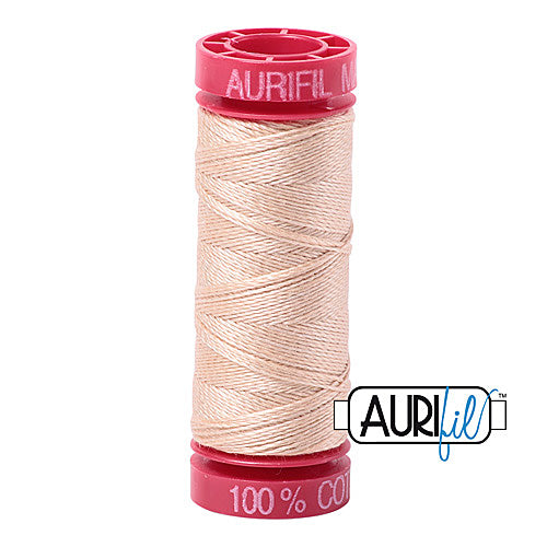 Aurifil Mako 12wt Cotton 50 m (54 yd.) spool - 2315 Shell<br><font color = red>Please note, that this colour in this size is not available in-store, but will be ordered for you.</font>