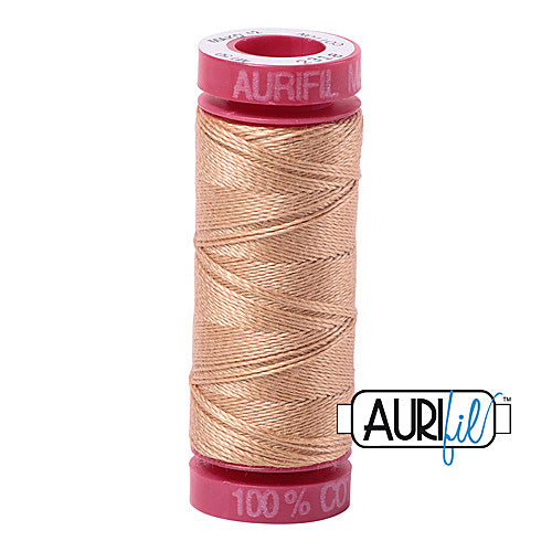 Aurifil Mako 12wt Cotton 50 m (54 yd.) spool - 2318 Cachemire<br><font color = red>Please note, that this colour in this size is not available in-store, but will be ordered for you.</font>