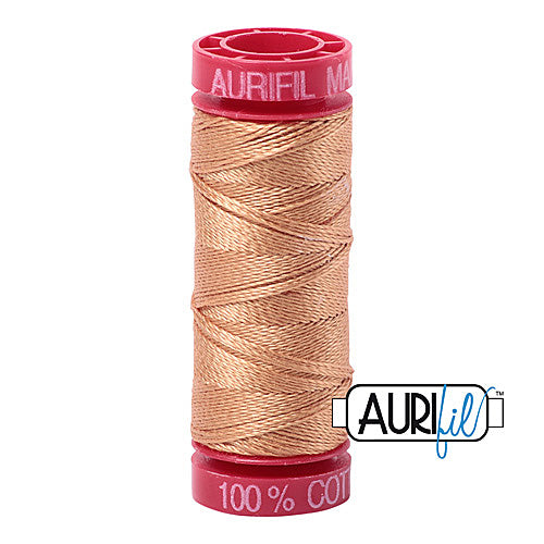 Aurifil Mako 12wt Cotton 50 m (54 yd.) spool - 2320 Light Toast<br><font color = red>Please note, that this colour in this size is not available in-store, but will be ordered for you.</font>