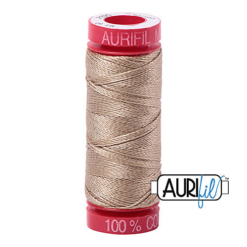 Aurifil Mako 12wt Cotton 50 m (54 yd.) spool - 2325 Linen<br><font color = red>Please note, that this colour in this size is not available in-store, but will be ordered for you.</font>