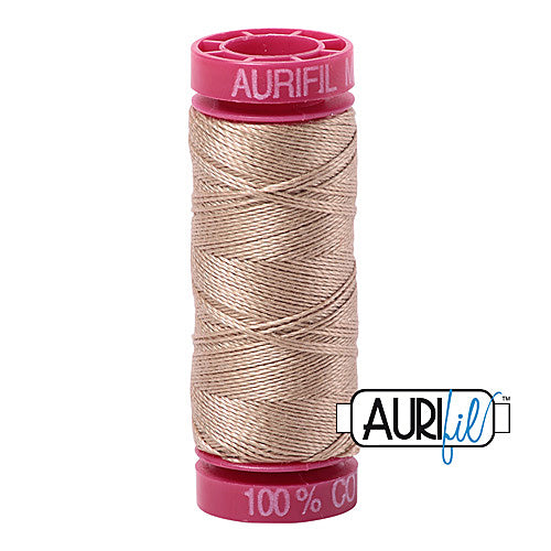 Aurifil Mako 12wt Cotton 50 m (54 yd.) spool - 2326 Sand<br><font color = red>Please note, that this colour in this size is not available in-store, but will be ordered for you.</font>