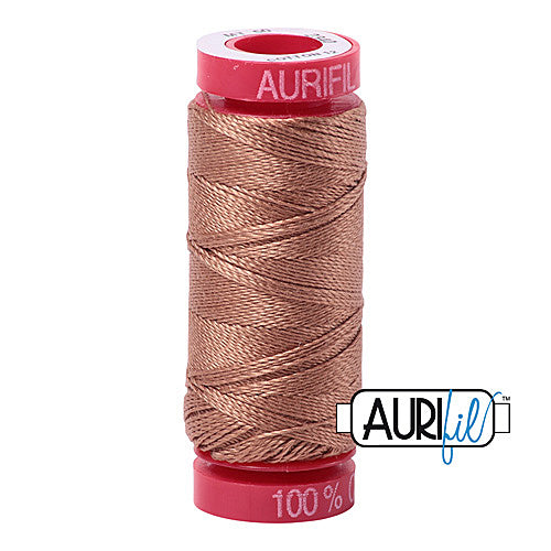 Aurifil Mako 12wt Cotton 50 m (54 yd.) spool - 2340 CafÈ au Lait<br><font color = red>Please note, that this colour in this size is not available in-store, but will be ordered for you.</font>
