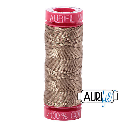 Aurifil Mako 12wt Cotton 50 m (54 yd.) spool - 2370 Sandstone<br><font color = red>Please note, that this colour in this size is not available in-store, but will be ordered for you.</font>