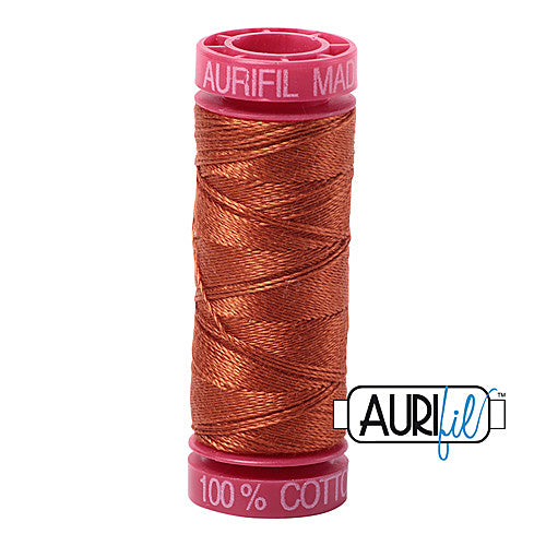 Aurifil Mako 12wt Cotton 50 m (54 yd.) spool - 2390 Cinnamon Toast<br><font color = red>Please note, that this colour in this size is not available in-store, but will be ordered for you.</font>