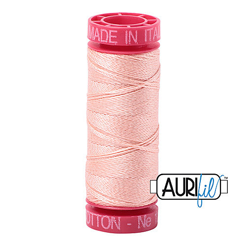Aurifil Mako 12wt Cotton 50 m (54 yd.) spool - 2420 Fleshy Pink<br><font color = red>Please note, that this colour in this size is not available in-store, but will be ordered for you.</font>