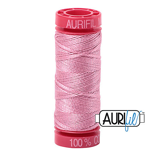 Aurifil Mako 12wt Cotton 50 m (54 yd.) spool - 2430 Antique Rose<br><font color = red>Please note, that this colour in this size is not available in-store, but will be ordered for you.</font>